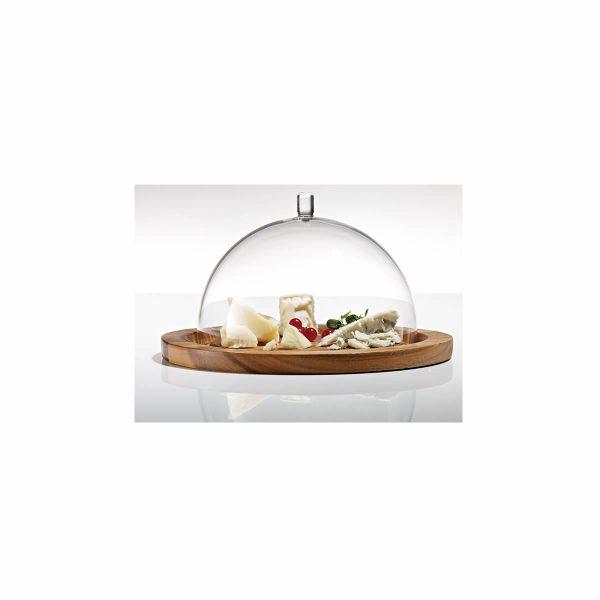 venta campana cristal de queso y frutas