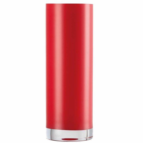 Florero rojo cilíndrico DOMO 300mm