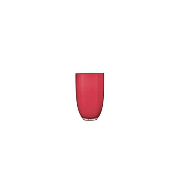 Florero transparente rojo LOOM 305mm